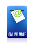 Online vote concept illustration design Stock Photo