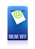 Online vote concept illustration design Stock Photo