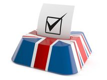 Online voting concept. Isolated on white background Royalty Free Stock Photo