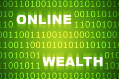 Online Wealth. Business Concept Background with Binaries in Green stock illustration