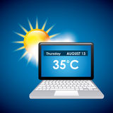 Online weather Royalty Free Stock Photography