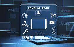 Online web business. Landing page. Internet, technology, business royalty free stock photos