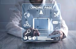 Online web business. Landing page. Internet, technology, business stock photos
