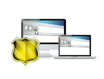 Online web protection concept illustration Royalty Free Stock Photos