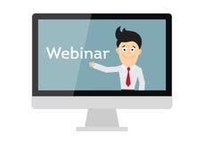Online webinar concept vector illustratie
