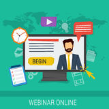 Online webinar, e-learning, professional lectures Stock Images