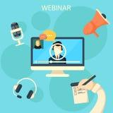 Online webinar ontwerpconcept royalty-vrije illustratie