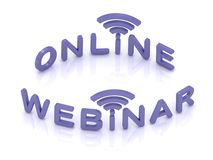 Online Webinar sign Stock Photo