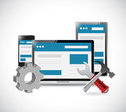 Online website and tools illustration design Royalty Free Stock Image