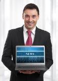 Online wiadomość Fotografia Stock