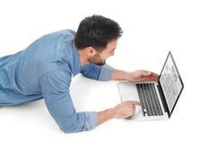 Online wiadomość Zdjęcia Stock