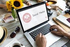 Online wiadomość blogu gadki komunikacja Odkrywa Graficzną ikonę Conc Zdjęcia Stock