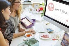 Online wiadomość blogu gadki komunikacja Odkrywa Graficzną ikonę Conc Zdjęcia Royalty Free