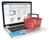 Online winkel Royalty-vrije Stock Afbeeldingen