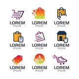 Online Winkel Logo Set Stock Fotografie