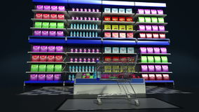 Online winkel van de tablet de toetsenbord veranderde kruidenierswinkel, online supermarkt 3D geproduceerd beeld online purchuse