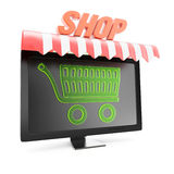 Online winkelconcept Royalty-vrije Stock Afbeelding