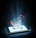 Online winkelen Stock Foto's