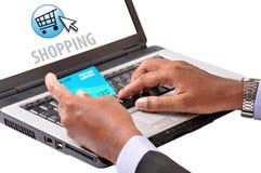 Online winkelend Stock Fotografie