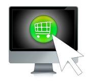 Online winkelend royalty-vrije illustratie