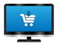 Online winkelend vector illustratie
