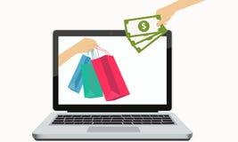 Online Winkelend Stock Afbeeldingen