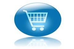 Online winkelend Stock Foto's