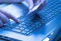 Online Winkelend Betaling met creditcard Royalty-vrije Stock Foto