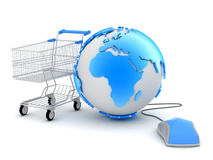 Online winkelend - conceptenillustratie Stock Afbeelding