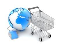 Online winkelend - conceptenillustratie Stock Fotografie