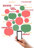 Online winter holiday recipe website business template. Stock Photos