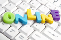 ONLINE word made by colorful letters Stock Photography