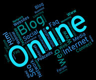 Online Word Shows World Wide Web And Net Royalty Free Stock Image