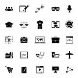 Online working icons on white background Royalty Free Stock Images