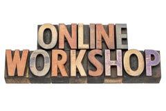 Online workshop in letterpress wood type Royalty Free Stock Images