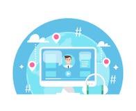 Online wydarzenie, nauczanie online Obraz Stock