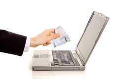 Online zahlen Stockbild