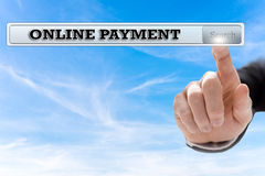 Online-Zahlung lizenzfreie stockfotos