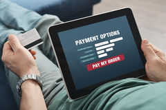 Online-Zahlung lizenzfreies stockfoto