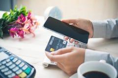 Online-Zahlung lizenzfreie stockbilder