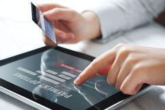 Online-Zahlungs-Konzept Lizenzfreies Stockfoto