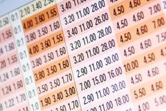 online zakładów szanse Zdjęcie Stock
