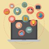 Online zaken Royalty-vrije Stock Afbeeldingen