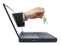 Online zaken Stock Foto