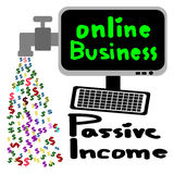 Online zaken, Passief inkomen, Cash flow stock illustratie