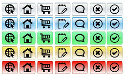 Online zakupów guziki Obrazy Stock