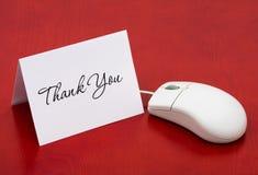 online zakup dziękować ty twój Fotografia Stock