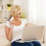 Online zakupy fotografia stock