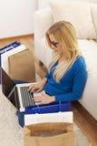 Online zakupy obraz royalty free