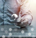 Online zakupy, online bankowość i internet bankowości pojęcie Obraz Royalty Free